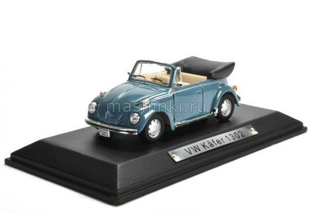 7129118 14+ ATLAS ATLAS 1/43 VW Kafer 1302 Cabrio 1970 light blue