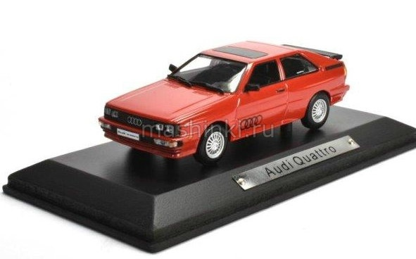 7129121 14+ ATLAS ATLAS 1/43 AUDI Quattro 1980 red