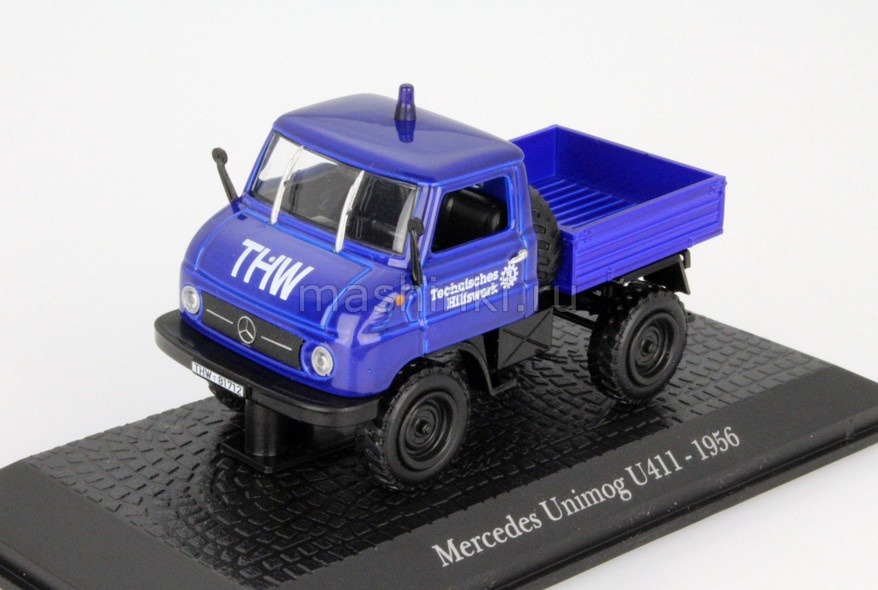 7421125 14+ ATLAS ATLAS 1/43 MERCEDES-BENZ UNIMOG U411 1956 blue