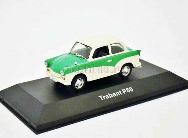 7507002 14+ ATLAS ATLAS 1/43 TRABANT P50 1959 white-green