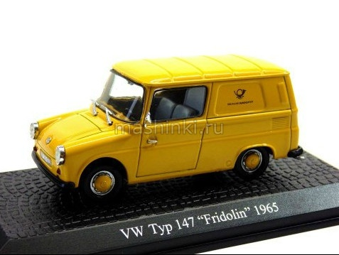 7536101 14+ ATLAS ATLAS 1/43 VW Typ 147 Fridolin 1965 yellow