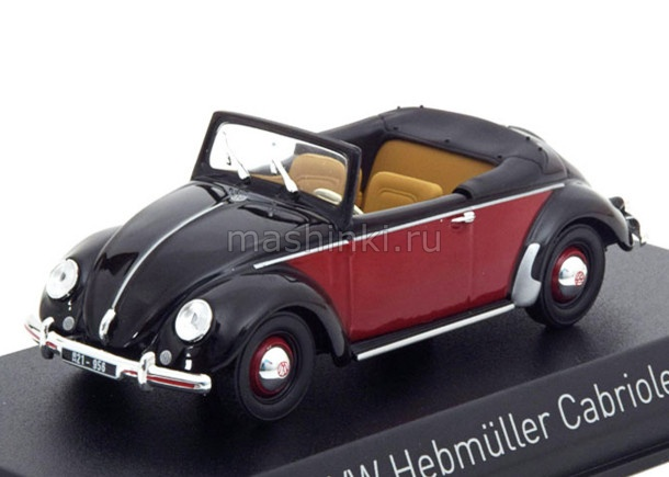 840021 14+ NOREV NOREV 1/43 VW Hebmuller 1949 black/red