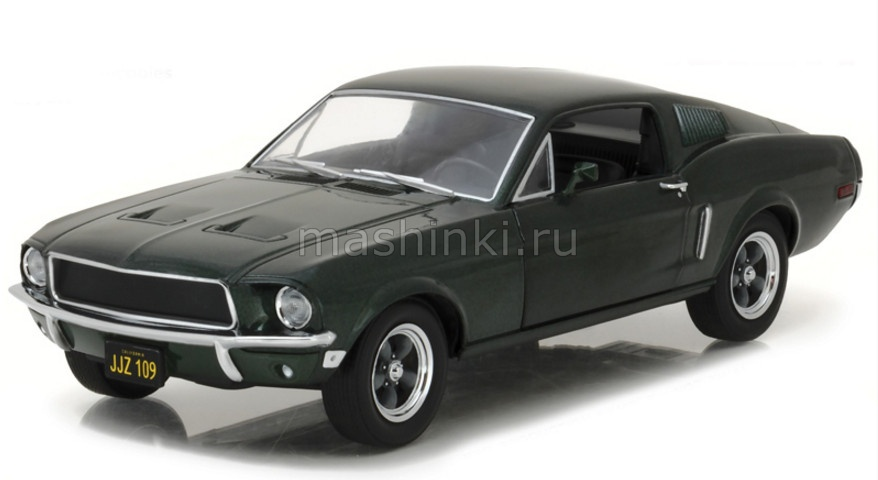 84041 14+ GREENLIGHT GREENLIGHT 1/24 FORD MUSTANG GT Fastback 1968 (к/ф Буллит)