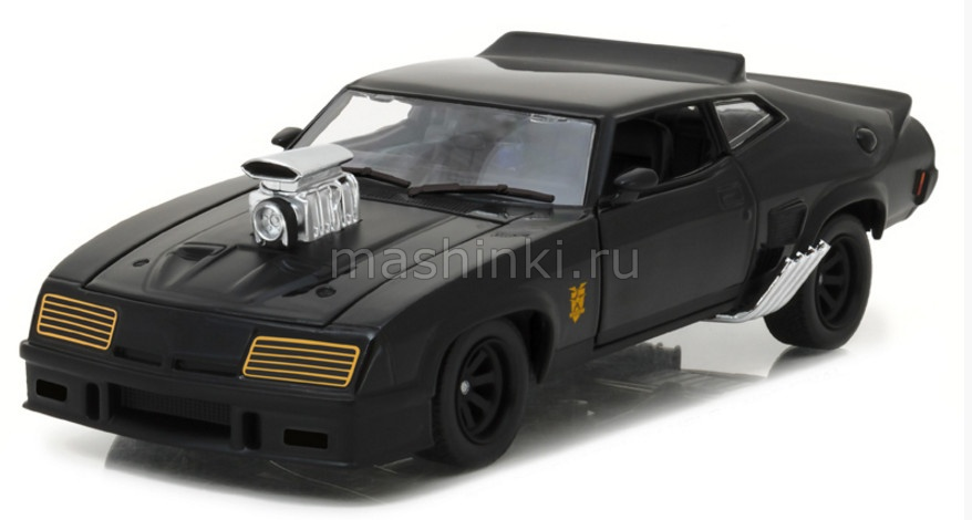 84051 14+ GREENLIGHT GREENLIGHT 1/24 FORD Falcon XB V8  Black Interceptor 1973 (к/ф Безумный Макс)