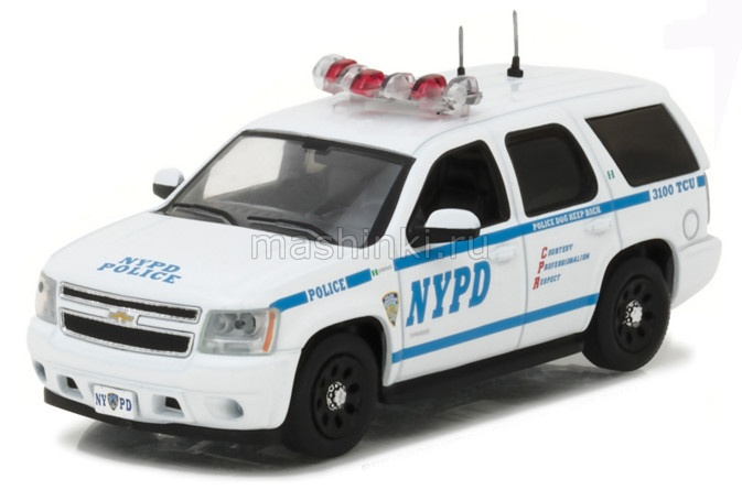 86082 14+ GREENLIGHT GREENLIGHT 1/43 CHEVROLET Tahoe New York City Police Department (NYPD) 2012