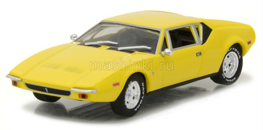86502 14+ GREENLIGHT GREENLIGHT 1/43 DE TOMASO Pantera Elvis Presley 1971 yellow