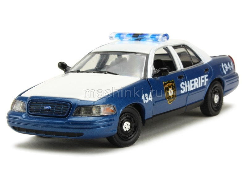 86504 14+ GREENLIGHT GREENLIGHT 1/43 FORD Crown Victoria Police Interceptor Rick and Shane's 2001 из т/с Ходячие мертвецы