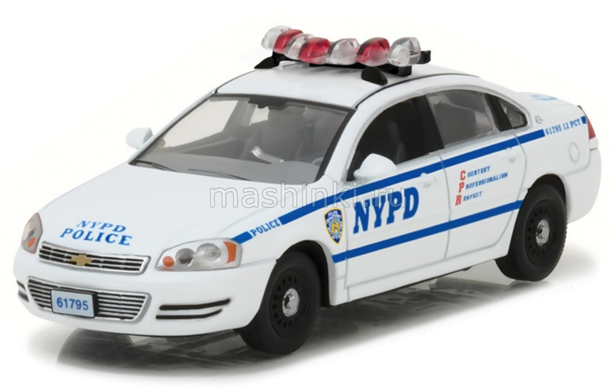 86509 14+ GREENLIGHT GREENLIGHT 1/43 CHEVROLET Impala New York City Police Department 2010 (т/с Голубая кровь)