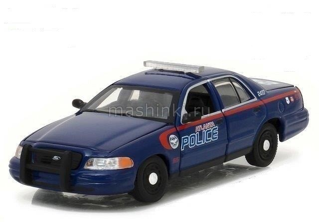 86510 14+ GREENLIGHT GREENLIGHT 1/43 FORD Crown Victoria Police Interceptor Atlanta Police (из т/с Ходячие мертвецы) 2001