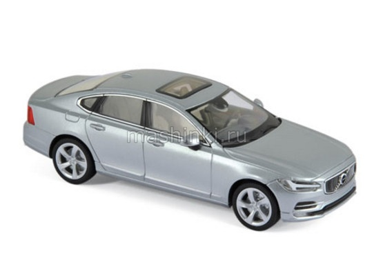 870061 14+ NOREV NOREV 1/43 VOLVO S90 Sedan 2016 electric silver