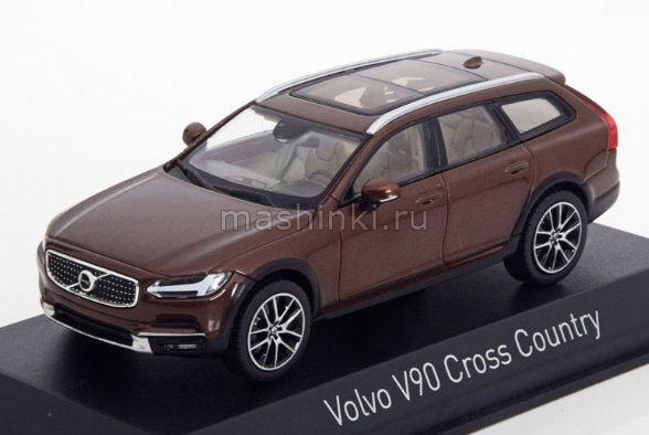 870069 14+ NOREV NOREV 1/43 VOLVO V90 Cross Country 2017 maple brown