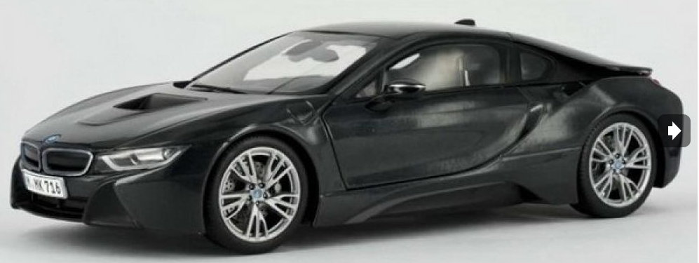 91051 PARAGON MODELS PARAGON 1/43 BMW i8 2014 metallic dark grey