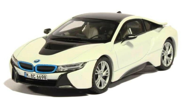 91052 PARAGON MODELS PARAGON 1/43 BMW i8 2014 metallic white