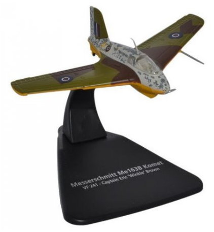 AC073 MASHINKI.RU/САМОЛЕТЫ/OXFORD (1/72 самолеты) OXFORD 1/72 MESSERSCHMITT Me163B Comet RAF Captain Eric Winkle Brown 1945