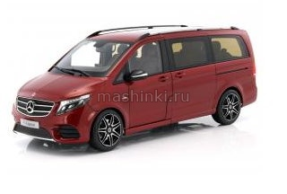 B6 600 4166 14+ NOREV NOREV 1/18 MERCEDES-BENZ V-Klasse (W447) 2014 metallic red