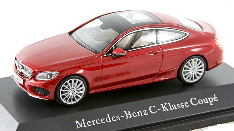 B66960531 NOREV NOREV 1/43 MERCEDES-BENZ C-Class Coupe (C205) 2016 metallic red