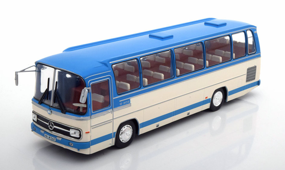 BUS008 14+ IXO IXO 1/43 MERCEDES-BENZ O302-10R автобус 1972 light blue/beige