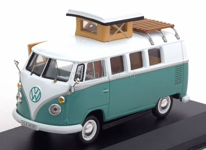 CAC002 14+ IXO IXO 1/43 VW T1Westfalia 1966 green/white