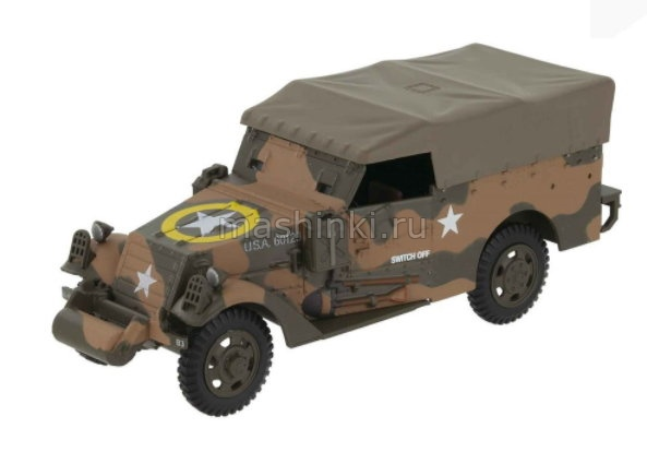 EX59 14+ ALTAYA ALTAYA 1/43 M3A1 Scout Car (с тентом) 2nd Armored Division Sicily Италия 1943