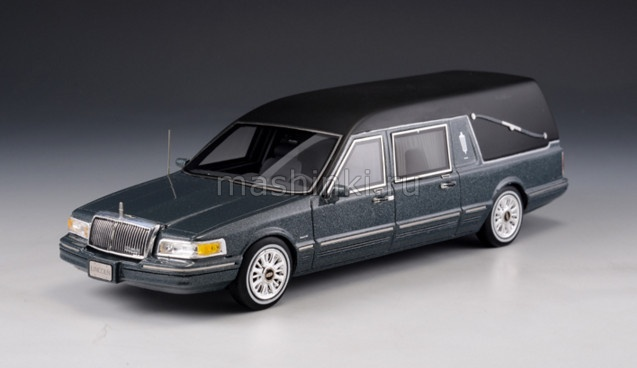 GLM43102701 14+ GLM GLM 1/43 LINCOLN Towncar S&S Hearse (катафалк) 1997 metallic grey