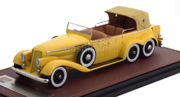 GLM43215001 14+ GLM GLM 1/43 HISPANO SUIZA H6A Victoria Town Car Cabriolet (закрытый) 1923 yellow