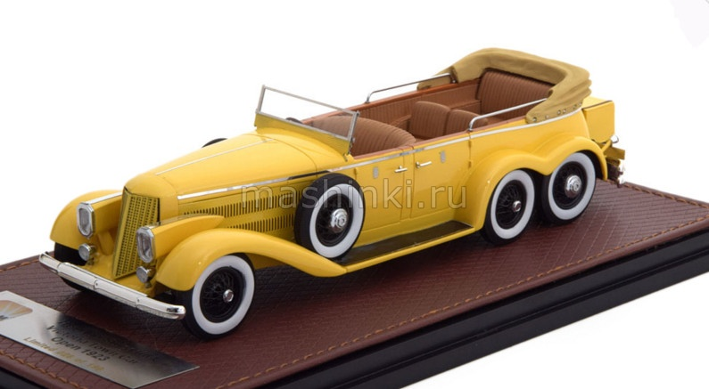 GLM43215002 14+ GLM GLM 1/43 HISPANO SUIZA H6A Victoria Town Car Cabriolet (открытый) 1923 yellow