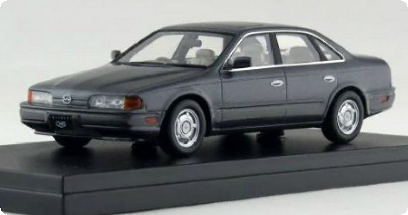 HS111GY HI-STORY HI-STORY 1/43 INFINITI Q45 Selection Package 1990 grey