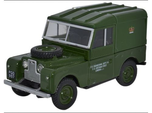LAN188006 OXFORD OXFORD 1/43 LAND ROVER Series 1 88 Hard Top Post Office Telephones 1950