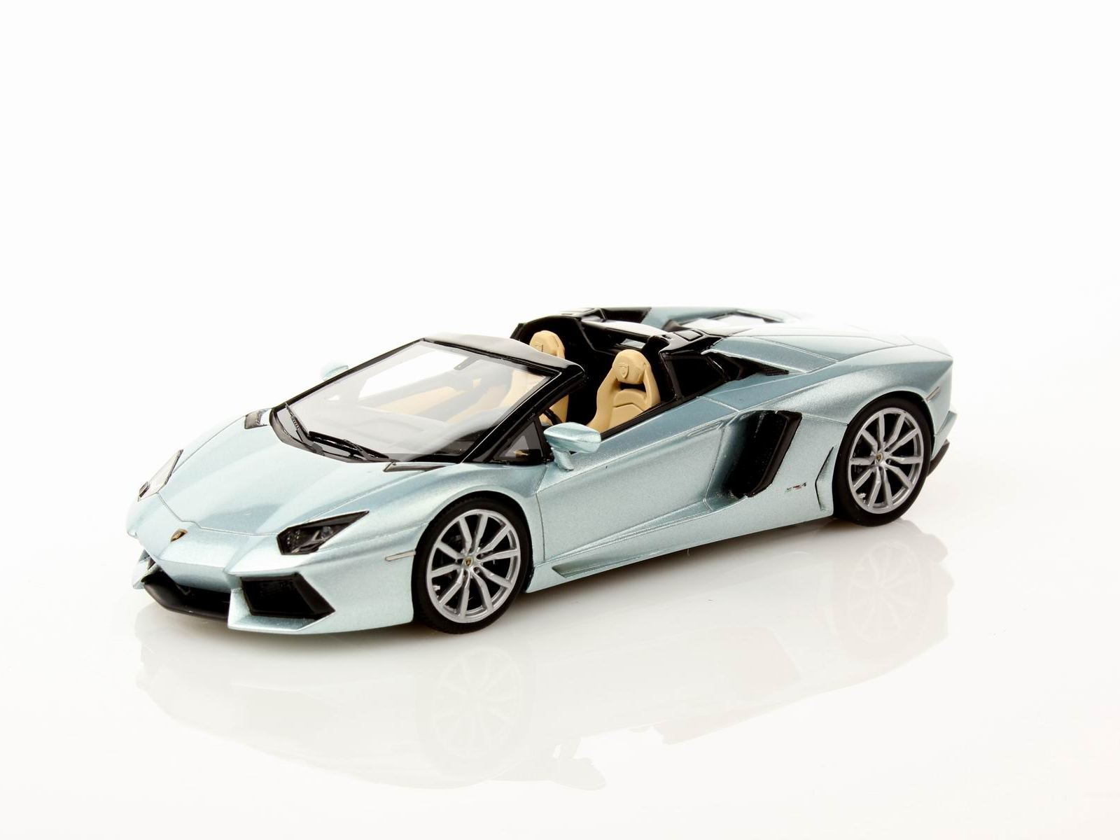 LS413A LOOK SMART LAMBORGHINI AVENTADOR LP700-4 Roadster 2012 metallic silver blue