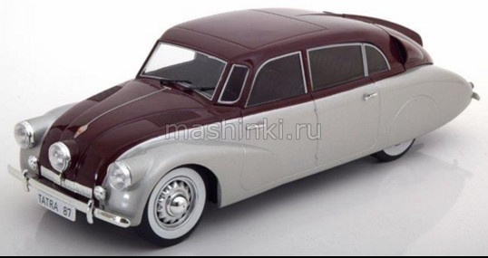 MCG18067 14+ MODEL CAR GROUP (MCG) MCG 1/18  TATRA 87 1937 dark red/silver