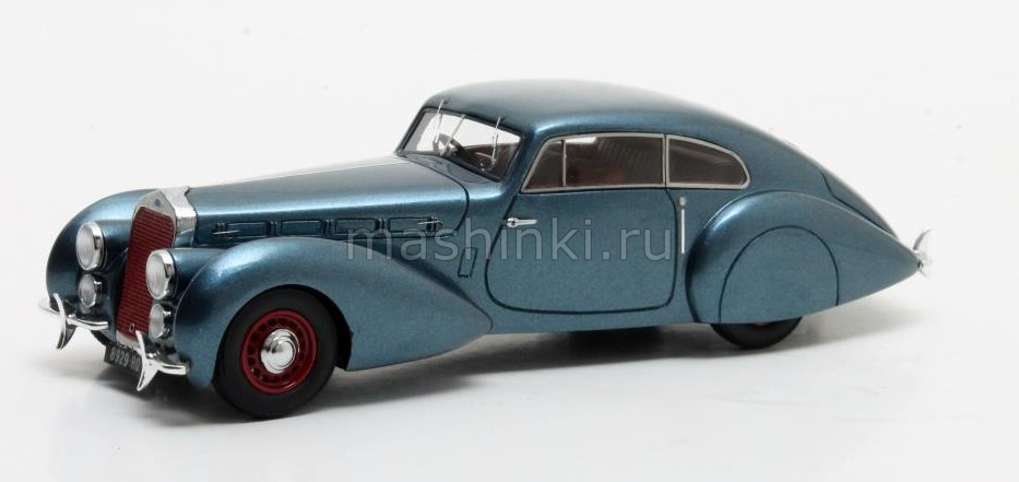MX50407-041 14+ MATRIX MATRIX 1/43 DELAGE D8-120 S Pourtout Coupe 1938 metallic blue