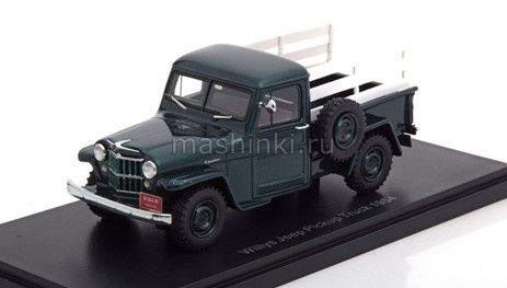 NEO45804 14+ NEO NEO 1/43 JEEP Willys Pick Up 4x4 1954 green