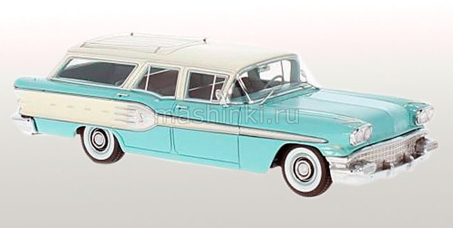 NEO46255 14+ NEO NEO 1/43 PONTIAC Star Chief Safari 1958 light turquois/white