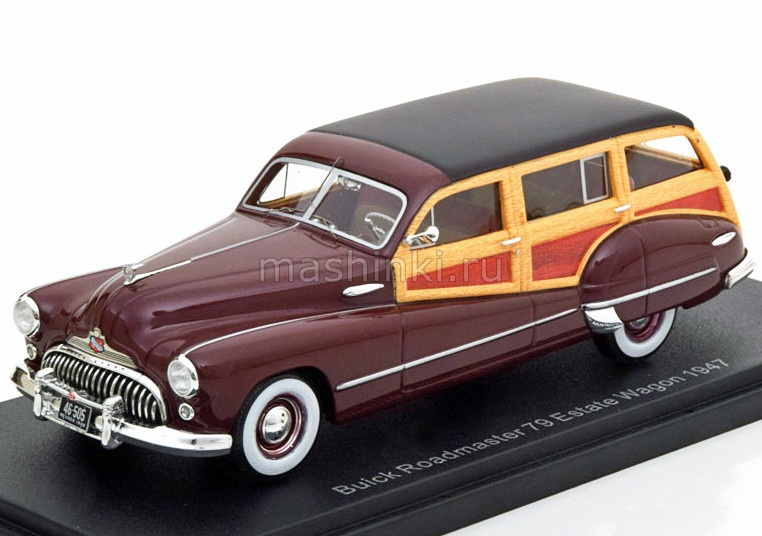 NEO46505 14+ NEO NEO 1/43 BUICK Roadmaster 79 Estate Wagon 1947 dark red/wood