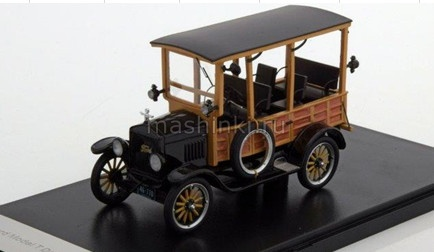 NEO46770 14+ NEO NEO 1/43 FORD Model T Depot Heck 1925 black/wood