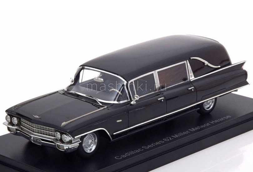 NEO46840 14+ NEO NEO 1/43 CADILLAC Series 62 Miller Meteor Hearse (катафалк) 1962 black