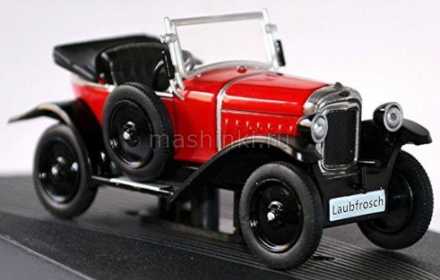 OP119 14+ IXO OPEL COLLECTION IXO-OPEL 1/43 OPEL 4/12 PS Laubfrosch 1924 red-black