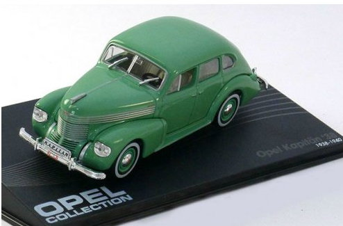 OP36 IXO OPEL COLLECTION IXO-OPEL 1/43 OPEL Kapitan 1938-1940 green