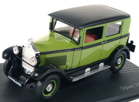 OP38 IXO OPEL COLLECTION IXO-OPEL 1/43 OPEL 10/40 PS Model 80 1925-1929 green-black
