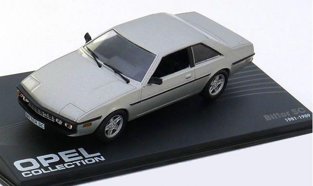 OP40 IXO OPEL COLLECTION IXO-OPEL 1/43 OPEL Bitter SC 1981-1989 silver