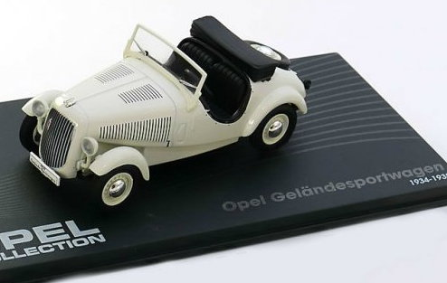 OP41 IXO OPEL COLLECTION IXO-OPEL 1/43 OPEL Gelandesportwagen 1934-1938 white