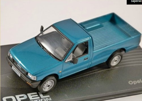 OP42 IXO OPEL COLLECTION IXO-OPEL 1/43 OPEL Campo Pick-up 1993-2001 metallic turquoise