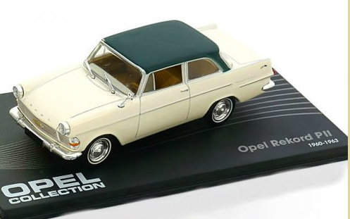 OP43 IXO OPEL COLLECTION IXO-OPEL 1/43 OPEL Rekord Coupe P2 1960-1963 white-dark green