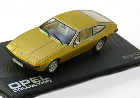 OP48 IXO OPEL COLLECTION IXO-OPEL 1/43 OPEL Bitter CD 1973-1979 gold