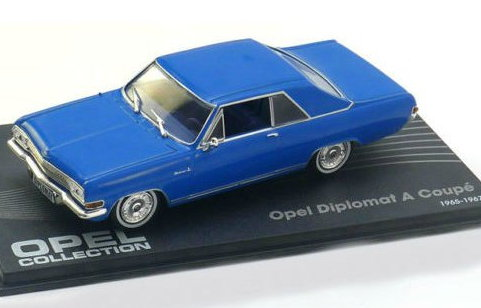 OP51 IXO OPEL COLLECTION IXO-OPEL 1/43 OPEL Diplomat A Coupe 1965-1967 blue
