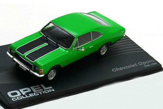 OP55 IXO OPEL COLLECTION IXO-OPEL 1/43 CHEVROLET Opala 1968-1969 green-black