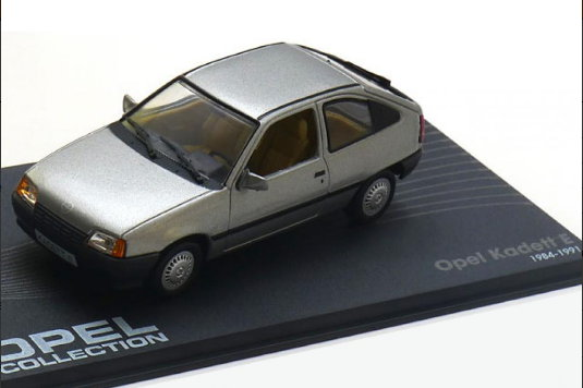 OP67 IXO OPEL COLLECTION IXO-OPEL 1/43 OPEL Kadett E 3 двери 1984-1991 grey