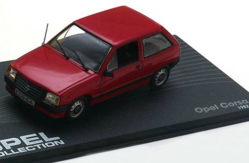 OP68 IXO OPEL COLLECTION IXO-OPEL 1/43 OPEL Corsa A 1982-1993 red