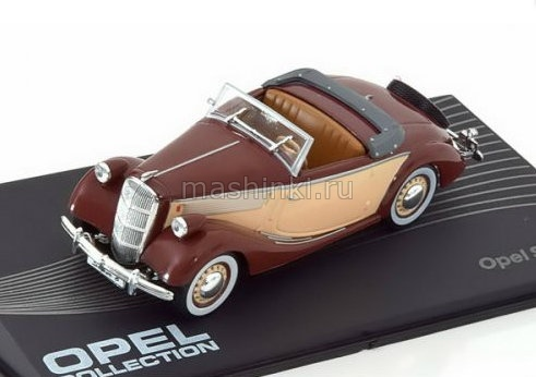 OP97 14+ IXO OPEL COLLECTION IXO-OPEL 1/43 OPEL Super 6 Cabriolet 1937 brown-beige
