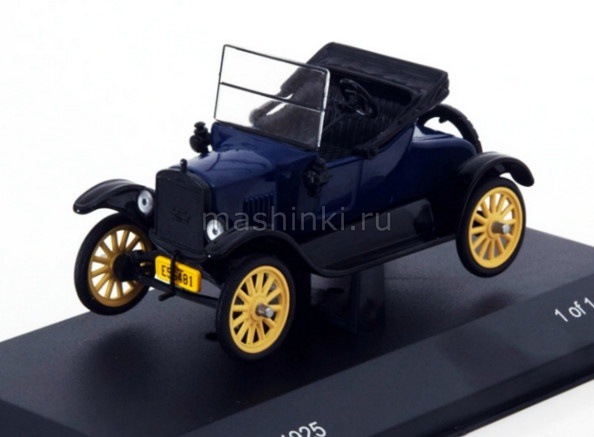 WB145 14+ WHITEBOX WHITEBOX 1/43 FORD T Runabout 1925 blue-black